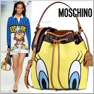 2015-16AW★Moschino 2WAY バケットバッグ TWEETY & SYLVESTER