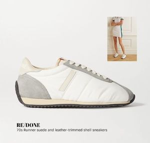 [RE/DONE] leather-trimmed shell sneakers 送料関税込
