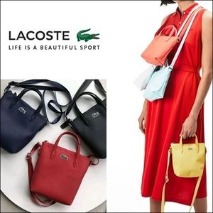 LACOSTE★CONCEPT 2WAYミニトート ショルダーバッグ NF2609PO