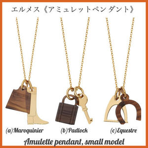 【HERMES直営店】《アミュレットペンダント》smallモデル/ホーン