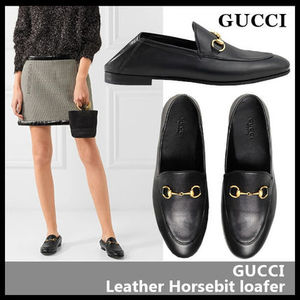 【GUCCI】2WAY Leather Horsebit loafer